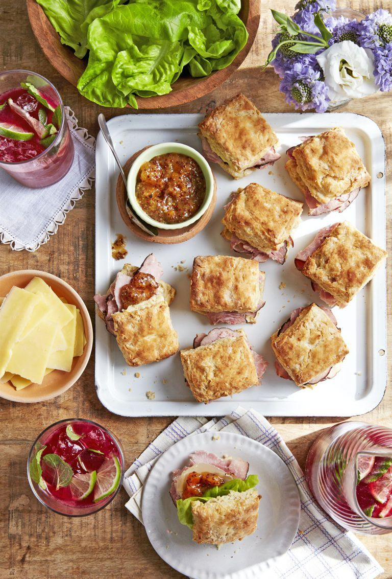 mothers day brunch ham biscuit sandwiches