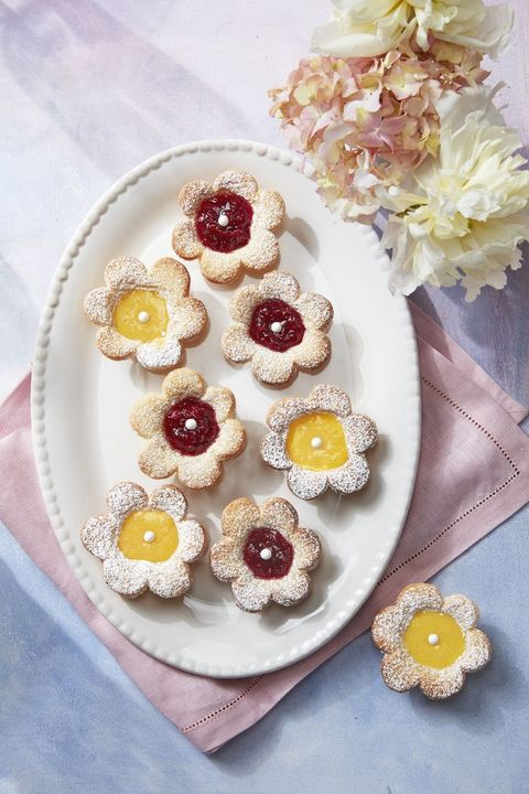 mothers day desserts flower tarts