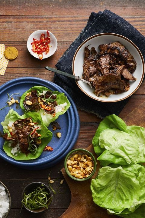 mothers day dinner ideas - beef lettuce wraps