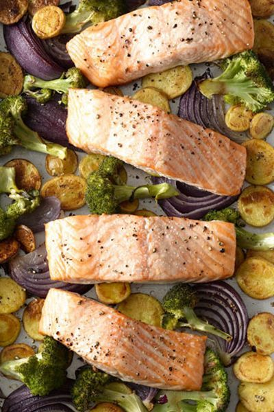 mothers day dinner ideas - salmon potatoes