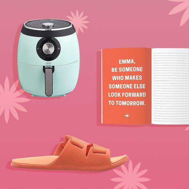 air fryer, jounral, hatch light, hair tools, free weights, chaco sandals