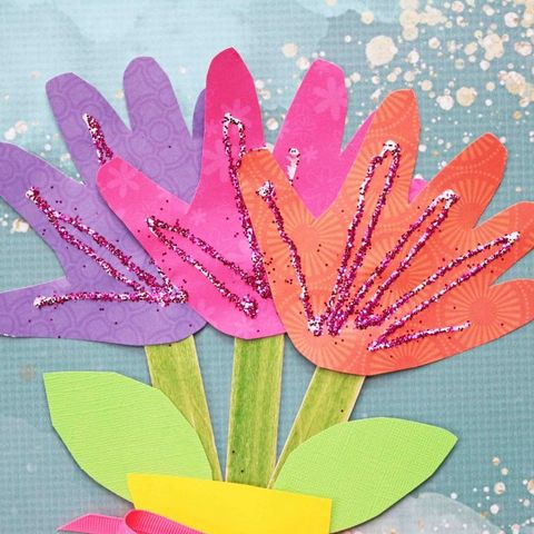 mothers-day-gifts-toddler_Handprint Flower Bouquet