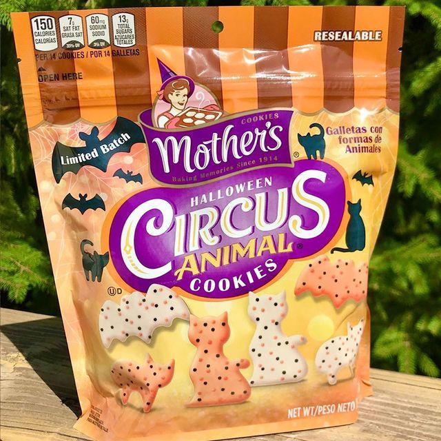 mother's halloween circus animal cookies