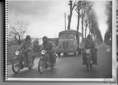 Three guys try to break a 72-year-old record motorcycling across France.