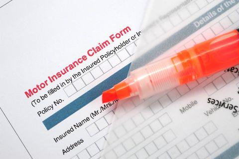 Motor Insurance Claim Form-Insuranced Car Application
