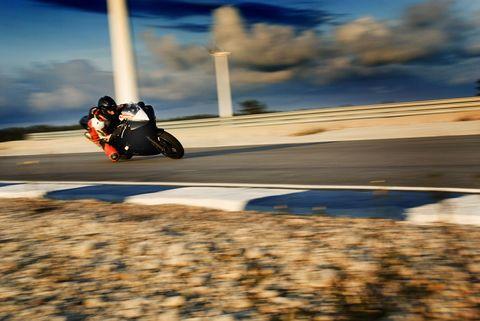 Sky, Vehicle, Motorcycle, Asphalt, Cloud, Road, Wheel, Rolling, Auto part, Car,