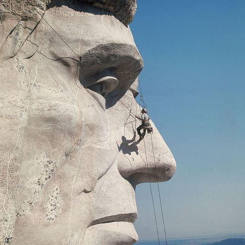 Sculpture, Statue, Stone carving, Head, Nose, Sky, Landmark, Monument, Art, Chin,