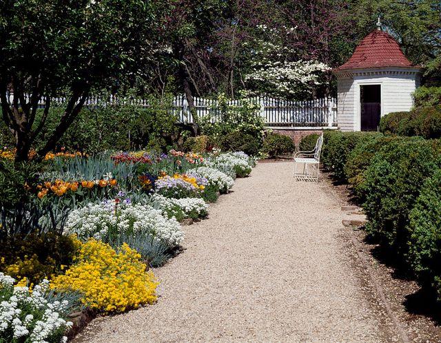 united states   august 10  garden path at mount vernon, george washington virginia estate photo by carol m highsmithbuyenlargegetty images