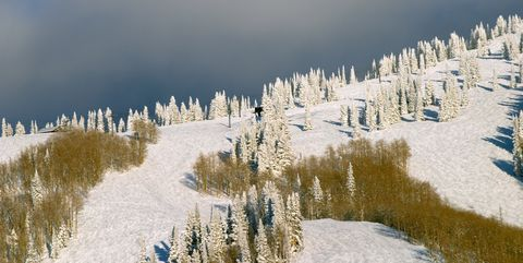 Mountain at winter, Steamboat ski resort, Colorado