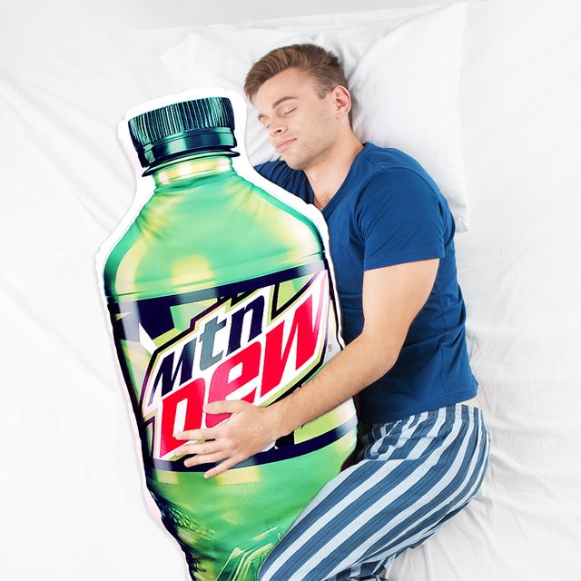 mountain dew bottle body pillow