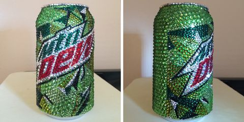 Green, Pattern, Beverage can,