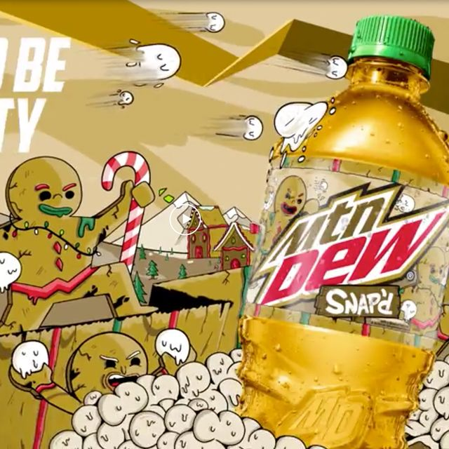 mountain dew snap'd gingerbread flavored christmas soda