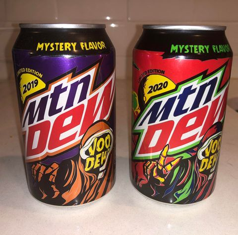 Halloween Soda Cans 2020 Mountain Dew's VooDew Is Back This Halloween With a New Mystery Flavor