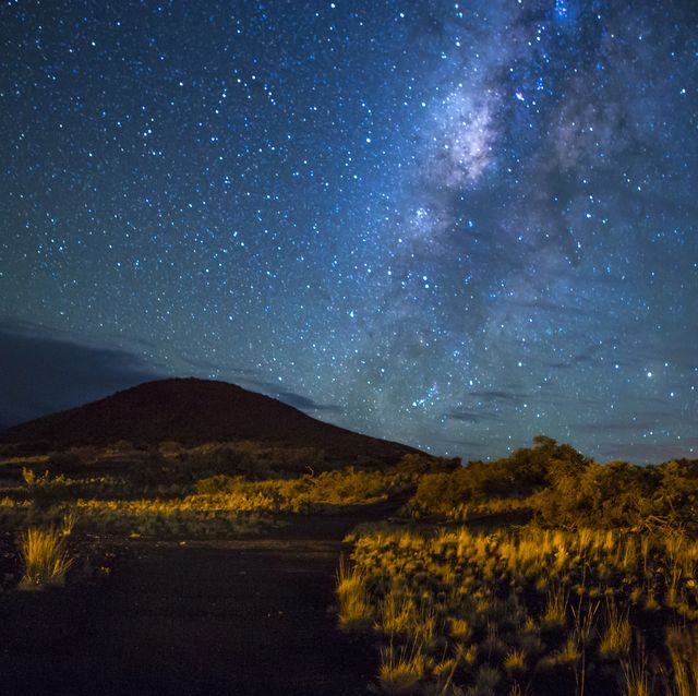 Mountain Trail Under the Milky Way