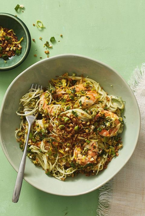 mouthwater pasta recipes green olive shrimp pasta