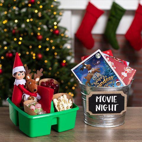 movie night elf on the shelf ideas
