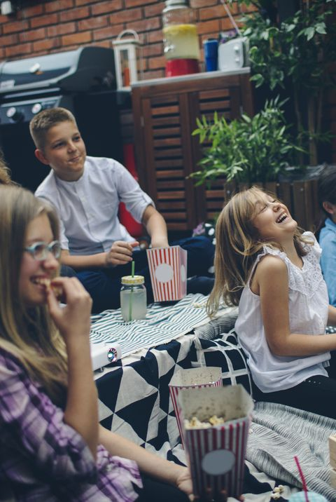 Movie Night In Backyard - kids birthday party ideas