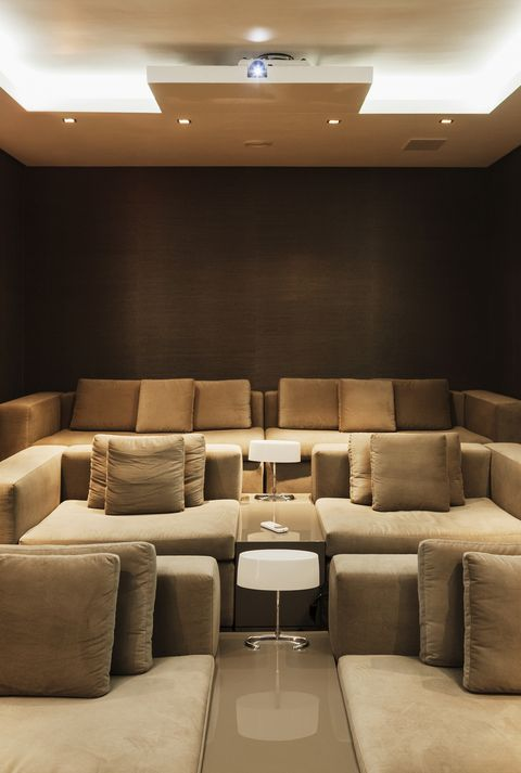 Movie screening room in modern house