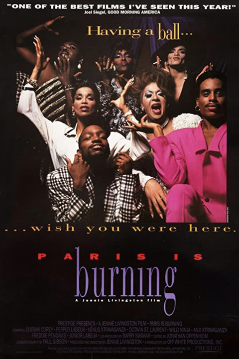 movie poster for paris is burning