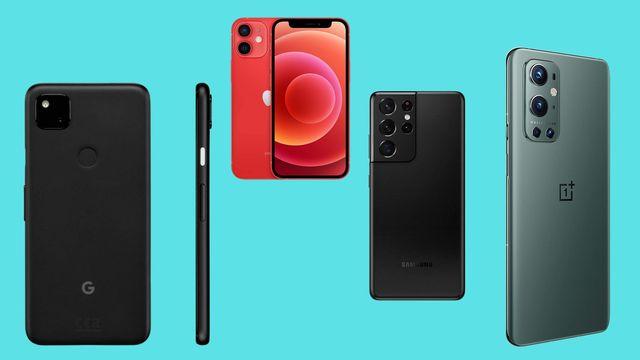 teléfonos móviles de samsung, apple, google y oneplus