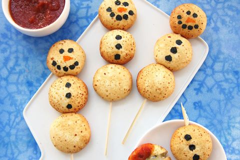 snowman cheesy apps hungry happenings recipe