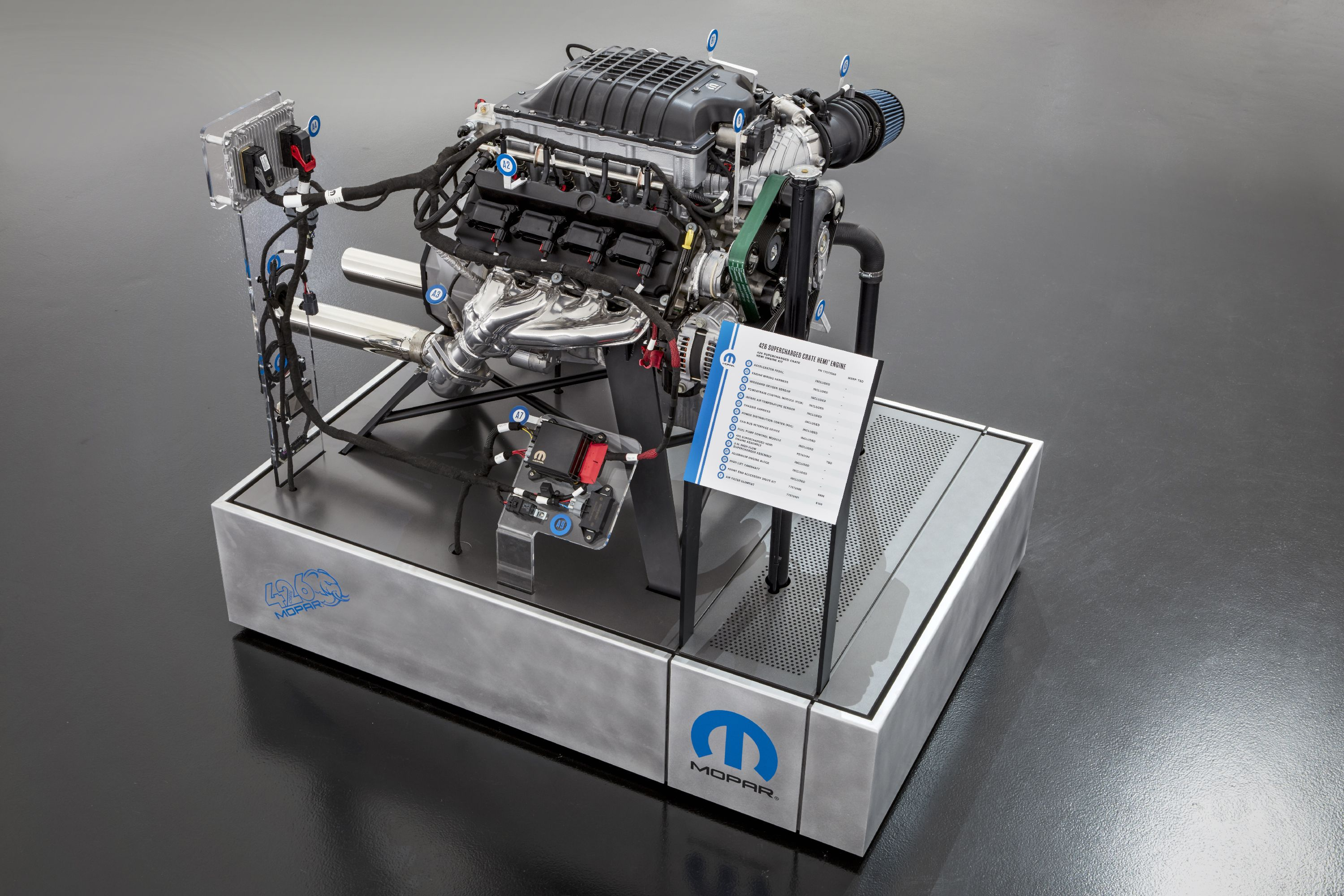 Sold! Entire Run of 1000-HP Mopar 426 Hellephant Supercharged Hemi Crate Engines Spoken For