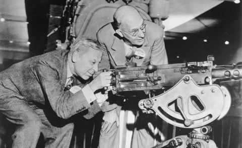 Sloan and Kettering Inspecting Machine Gun