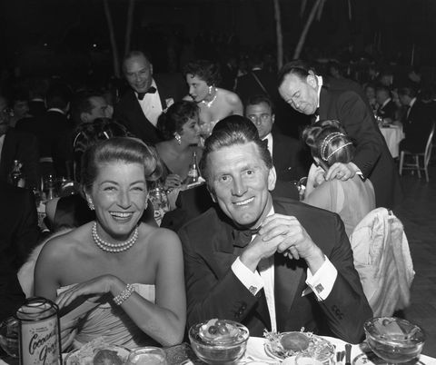 Kirk and Anne Douglas at Golden Globe Awards