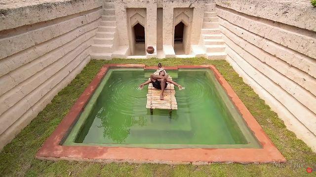 mr tfue construye con sus manos una casa con piscina de lujo en la selva
