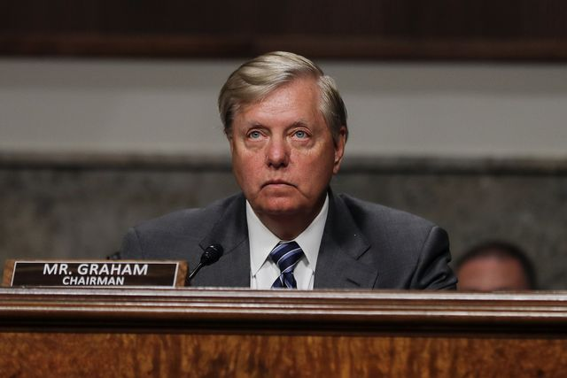 washington, dc   may 12 us senate judiciary committee chairman lindsey graham r sc presides during a senate judiciary committee hearing examining liability issues during the coronavirus disease covid 19 outbreak may 12, 2020 on capitol hill in washington, dc photo by carlos barria poolgetty images
