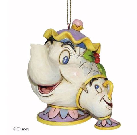 mrs potts bauble - Disney Beauty And The Beast Christmas Decorations