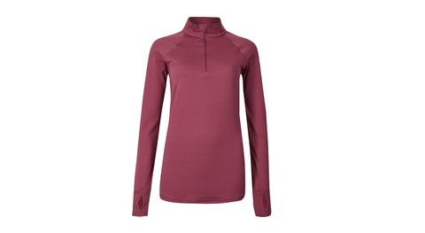 Clothing, Sleeve, Outerwear, Maroon, Violet, Jersey, Collar, T-shirt, Neck, Magenta,