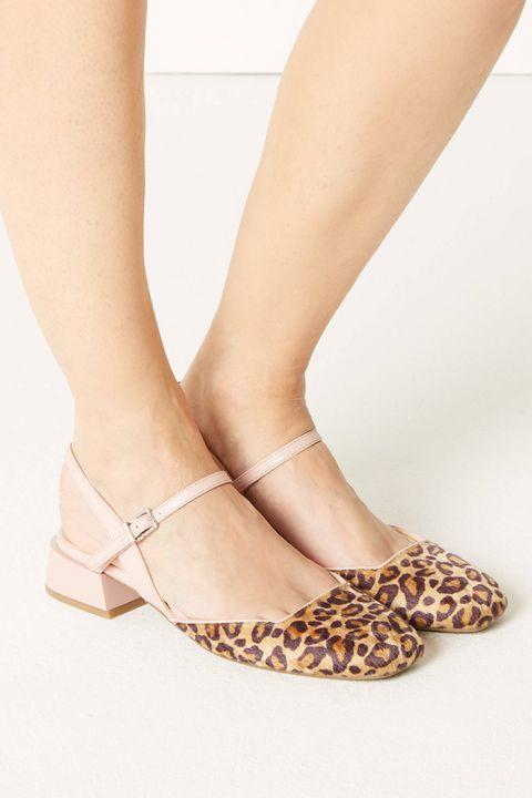030f5536218 Animal Print Strap Slingback Shoes