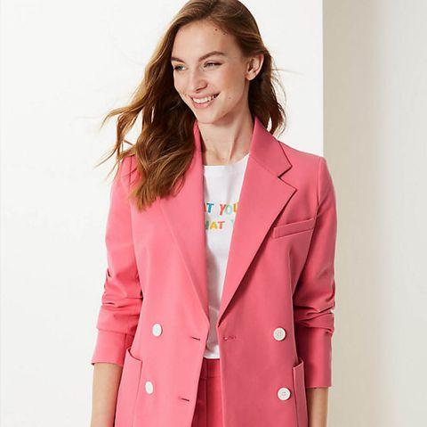 M&S pink blazer