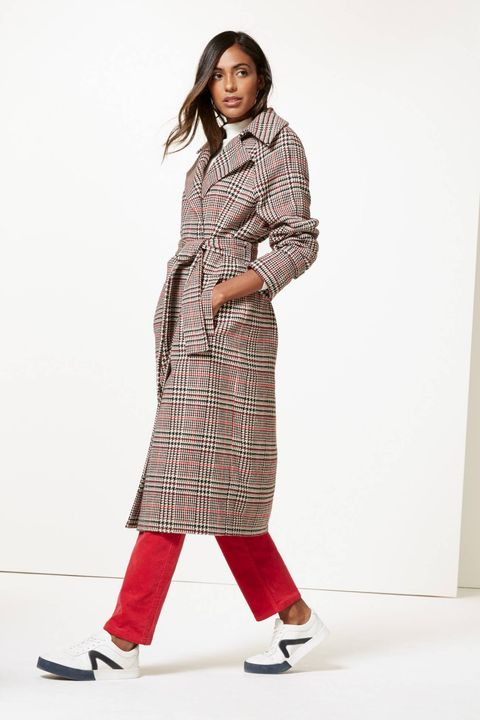 Image result for winter checked belted coat