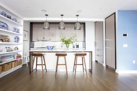 Room, Property, Furniture, Interior design, Floor, Building, Kitchen, Ceiling, Wood flooring, Cabinetry,