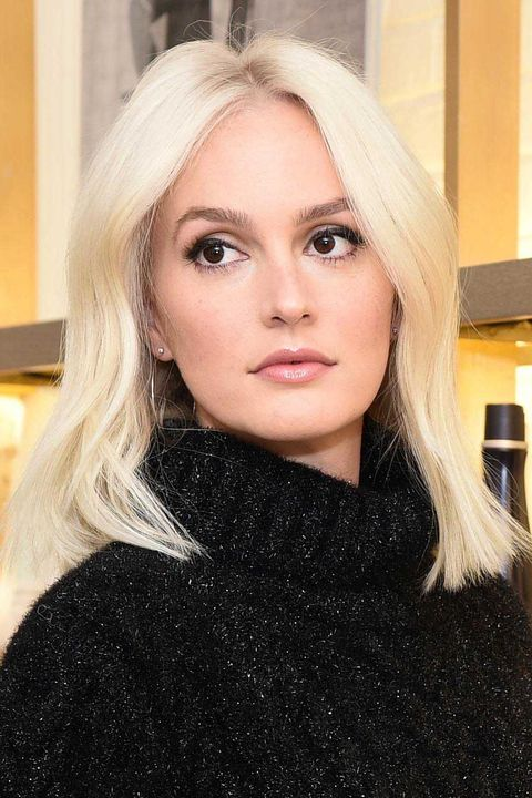 Leighton Meester Goes Platinum Blonde 2018 Leighton