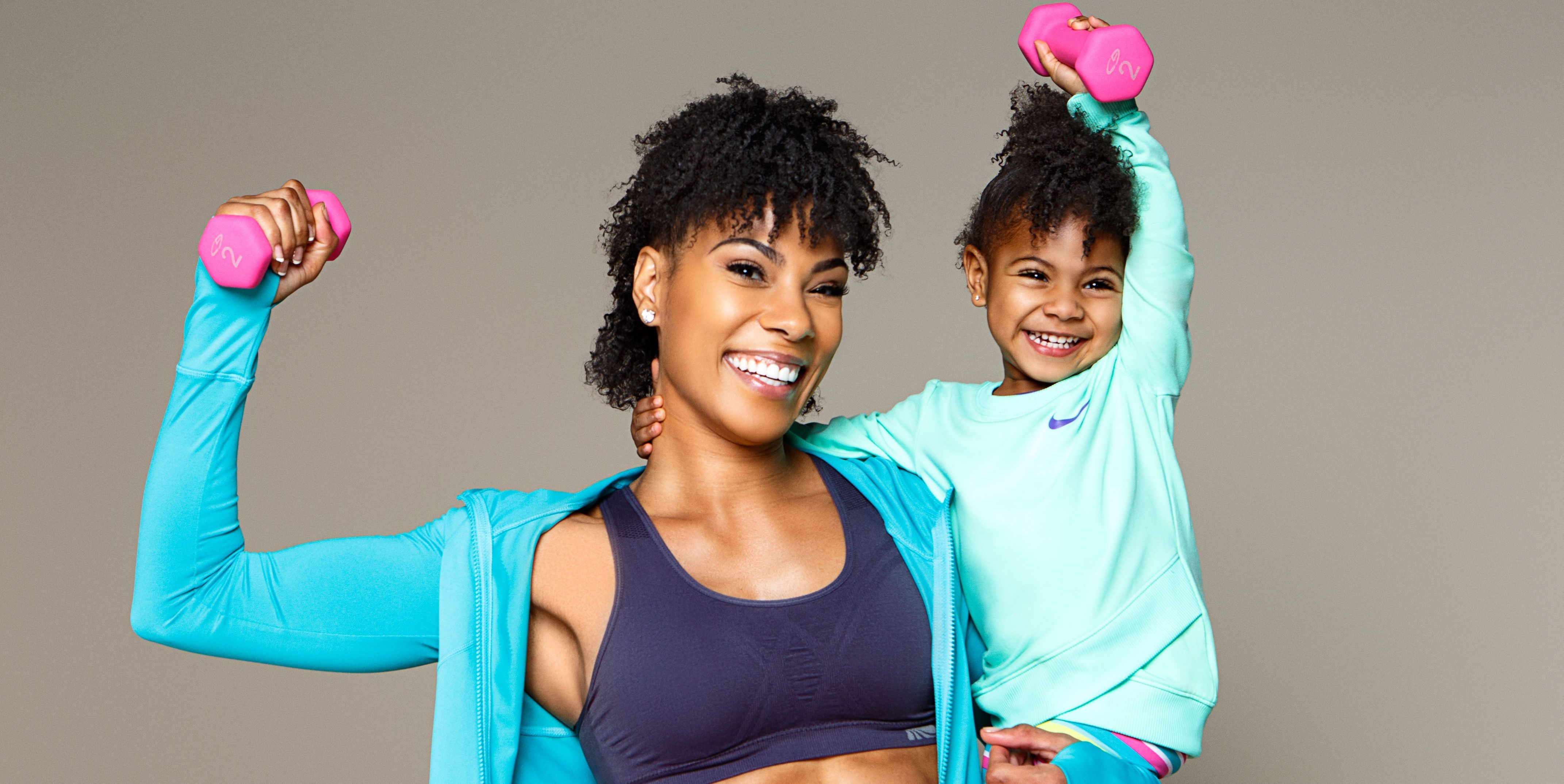 This 2-Year-Old Working Out With Her Mom Is Officially Too Cute to Handle