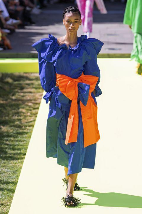 Blue, Fashion, Fun, Electric blue, Fashion design, Outerwear, Runway, Fashion show, Street fashion,