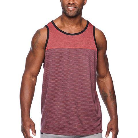 Clothing, Active tank, Sleeveless shirt, T-shirt, Sportswear, Pink, Outerwear, Undershirt, Shoulder, Muscle,