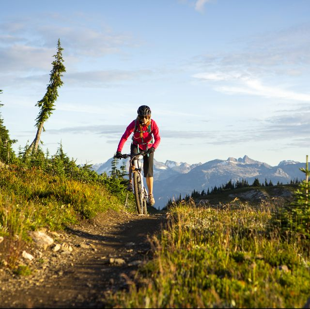 Mt biking in the mountains.