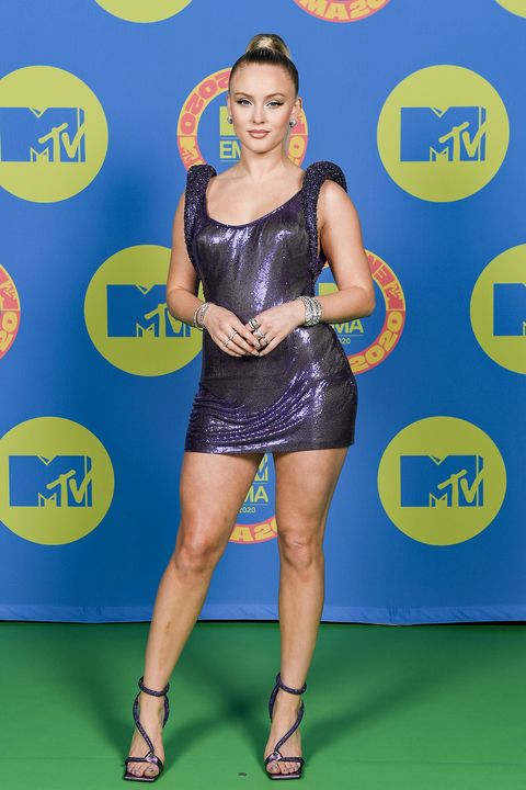 london, england   october 31 in this image released on november 08, zara larsson poses ahead of the mtv ema's 2020 on october 31, 2020 in london, england the mtv ema's aired on november 08, 2020 photo by ian gavangetty images for mtv