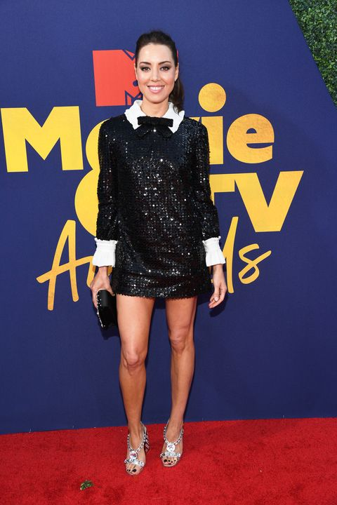 Aubrey Plaza at the MTV Movie and TV Awards 2019