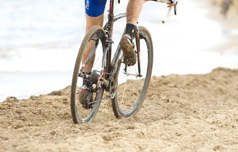 Mud and sand.