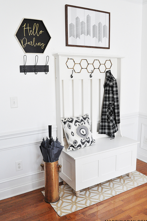 mudroom ideas - one piece of furniture