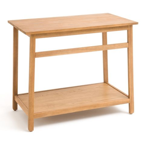 Mesa baja de madera de acacia para lavabo