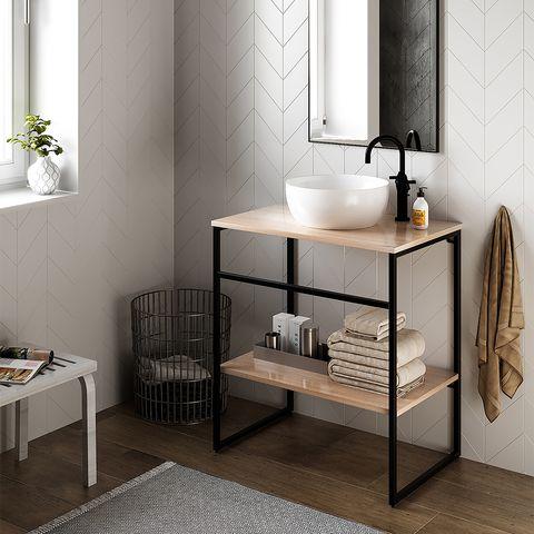 Mueble de lavabo con balda abierta