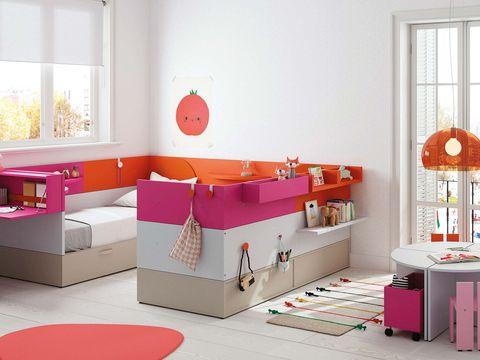 Dormitorio infantil con dos camas