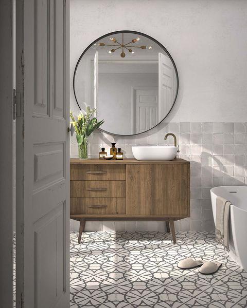 un mueble de baño de aire mid century