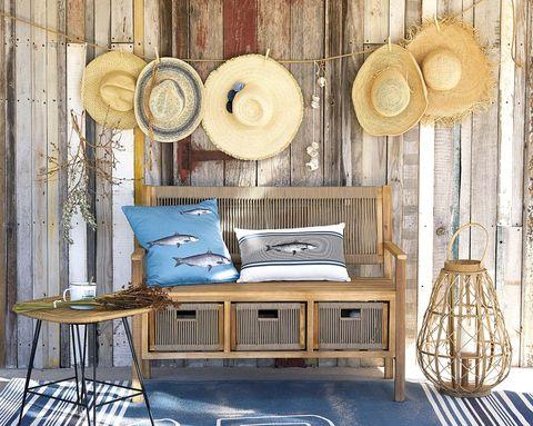 Decoración verano: Muebles de madera y fibra